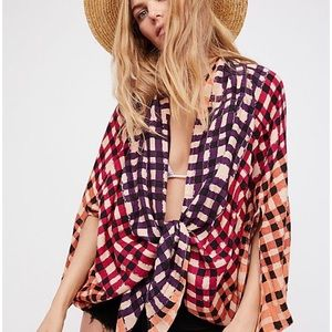Free People Retrograde Tie Front Cover Up